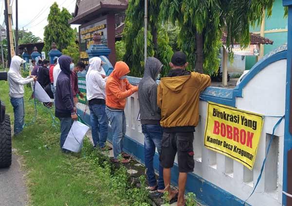 Warga Kraguman Klaten Geruduk Kantor Desa Pertanyakan Dugaan Mark Up Proyek Fisik 2019