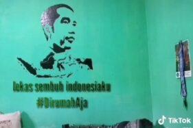 Cuma Modal Lakban, Seniman Tasikmalaya Bikin Lukisan Wajah Jokowi