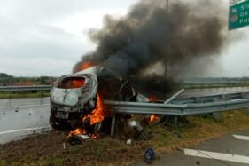 Ini Dugaan Kuat Penyebab Kecelakaan Maut Mobil Terbakar di Tol Sragen