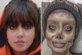 Hoax, Foto Kembaran Angelina Jolie Zombie Ternyata Hasil Make Up & Photoshop