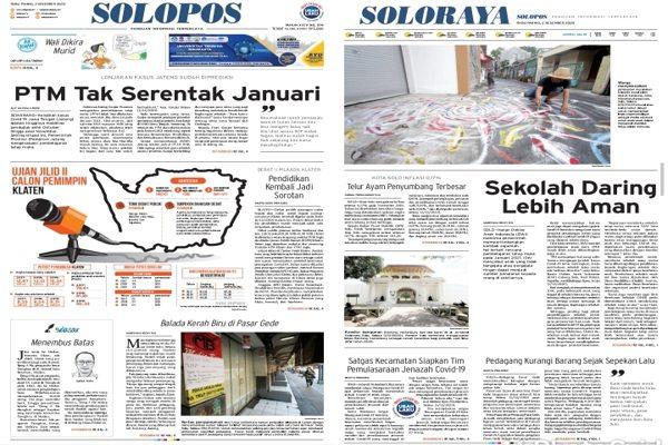 Solopos Hari Ini: PTM Tak Serentak Januari
