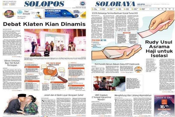 Solopos Hari Ini: Debat Klaten Kian Dinamis