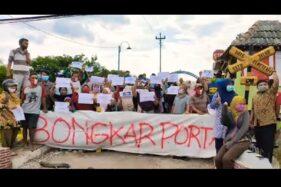 Demo Live Streaming di Youtube, Warga Siboto Sragen Minta Portal KA Dibongkar