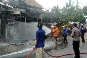 Gegara Mesin Pertamini, 6 Ruko di Pekalongan Terbakar