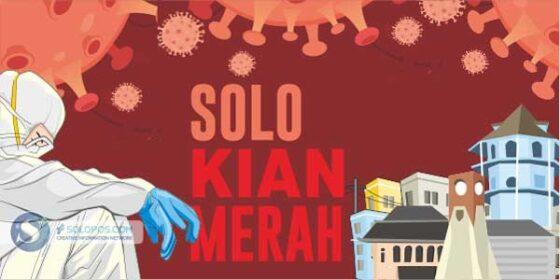 Infografis Solo Kian Merah (Solopos/Whisnupaksa)