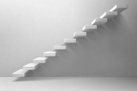 Ilustrasi tangga. (Freepik.com)