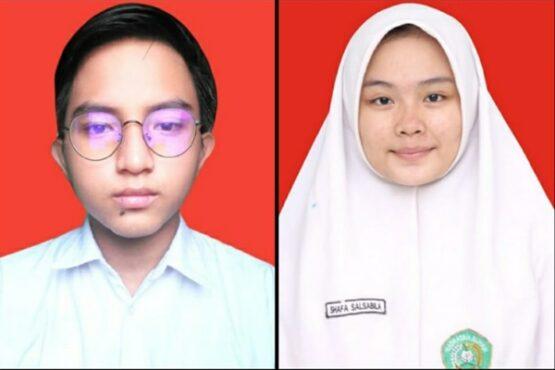 Shafa Salsabila dan Abrar Adzkia Ahmad dari MAN 13 Jakarta. (Istimewa-dokumen pribadi)