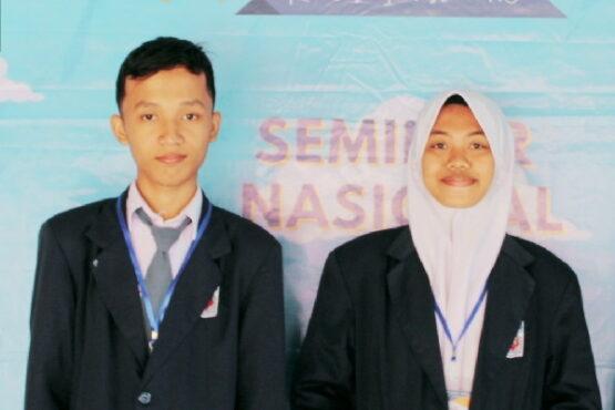 Novita Anggun Pratiwi dan Rosyid Hidayatul Fadilah dari SMAN 1 Karanganyar. (Istimewa-dokumen pribadi)