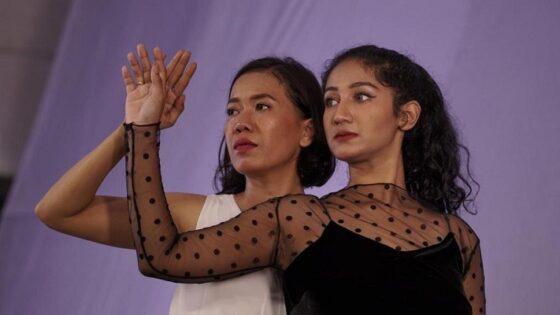 Kolaborasi Safina Nadisa dan Wirastuti Susilaningtyas dalam single Gelap Terang. (Istimewa-dok pribadi)