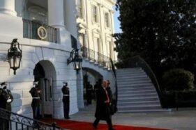 Akhiri Jabatan Presiden AS, Trump Tinggalkan Gedung Putih