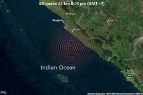 Gempa Bumi dengan Magnitudo 4,9 Landa Bengkulu