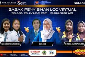 LCC Virtual FAM 2021: Persaingan 6 Sekolah Asal Solo, Semarang, Karanganyar, dan Lombok di Hari Pertama