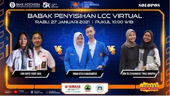 Tim yang bersaing di Sesi III LCC Virtual FAM 2021