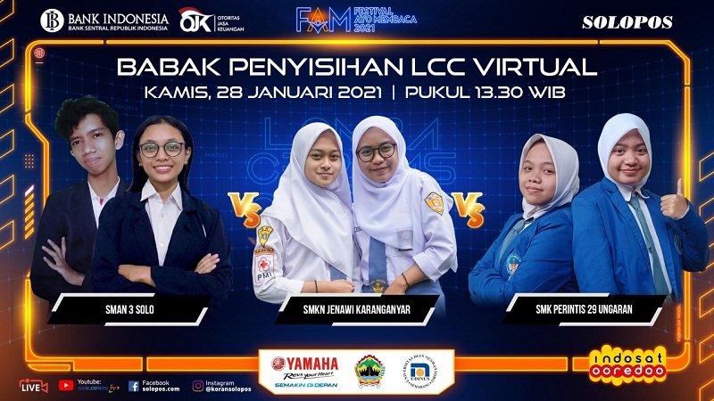 """Yel """"Pak Bambang Guru BI"""" Bikin SMAN 3 Solo Semangat Rebut Tiket Semifinal LCC 2021"""