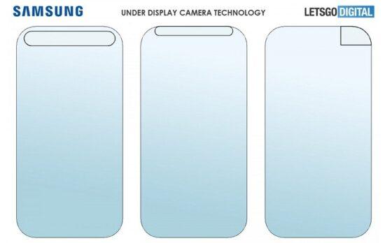 Samsung patenkan teknologi kamera bawah layar. (GSM Arena)