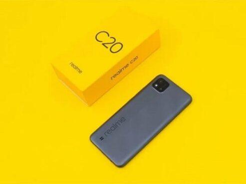 Smartphone Realme C20 yang memiliki baterai 5.000mAh dan harga dibanderol Rp1.6 juta. (Gizmochina)