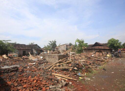 Rumah warga di lahan eks HP 16, Kelurahan Mojo, Pasar Kliwon, Solo, yang akan ditata menjadi kawasan perumahan, kantor, dan asrama Brimob Polda Jateng. (Solopos/Nicolous Irawan)