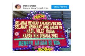 Pengirim Karangan Bunga Sadis di Sragen Tak Diakui sebagai Member Arisan Online