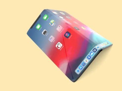 Ilustrasi konsep Iphone layar lipat. (Istimewa)