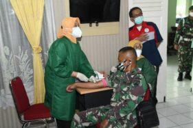 Prajurit TNI Kodam Diponegoro Donorkan Plasma Darah untuk Pasien Covid-19