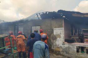 Rumah Kontrakan Bakul Cilok di Karanganyar Hangus Terbakar