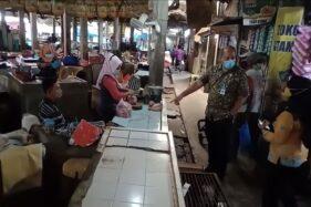 Langgar Prokes, 5 Pedagang Pasar Kebakkramat & Palur Dilarang Jualan