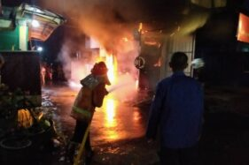 Kebakaran 2 Kios di Gemolong Sragen Diduga Dipicu Korsleting