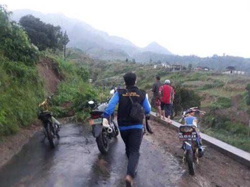 Longsor di Desa Cluntang, Kecamatan Musuk, Boyolali, Senin (25/1/2021), mengakibatkan satu warga meninggal dunia. (Istimewa)