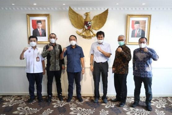 Menteri Pemuda dan Olahraga (Menpora) Zainudin Amali, pada Jumat (22/1/2021) pagi menerima audiensi Ketua Koni Aceh Muzakir Manaf. (Istimewa)