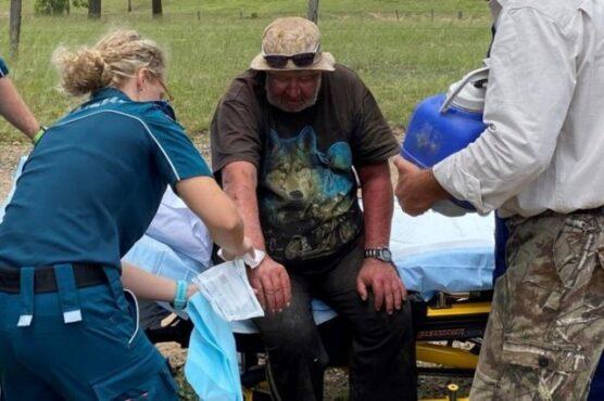Weber ditemukan  selamat setelah tersesat di hutan. (detik-Dok. Twitter Polisi Queesland)