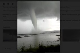 Angin Puting Beliung di WGM Wonogiri Termasuk Tornado Air alias Waterspout?