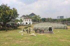 Rumkitlap Vastenburg Solo: Belasan Tenda Berfasilitas Lengkap Siap Tampung Pasien Covid-19