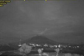 Gunung Sinabung Kembali Erupsi, Status Masih Siaga