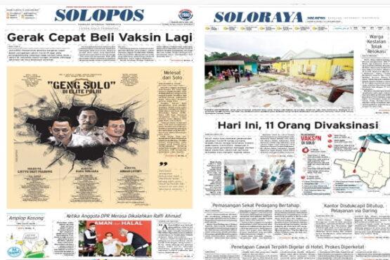 Koran Solopos edisi Kamis (14/1/2021).