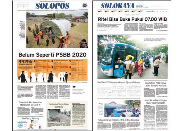 Solopos Hari Ini : Belum Seperti PSBB 2020