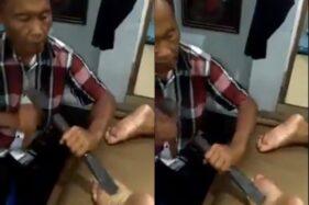 Pakai Palu dan Alat Pahat, Tukang Pijit Ini Bikin Ngilu Netizen