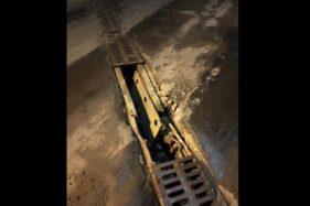 Lagi Dan Lagi, Penutup Saluran Air Underpass Makamhaji Sukoharjo Rusak, Dicuri?