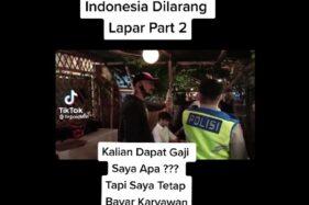 Viral Indonesia Dilarang Lapar: Pemilik Kafe Adu Mulut dengan Oknum Polisi