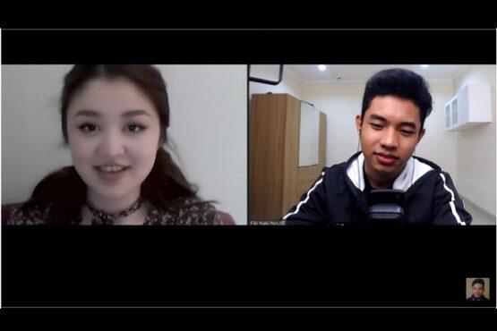 Pacaran jarak jauh Dayana dan Fiki Naki. (Youtube.com-Fiki Naki)