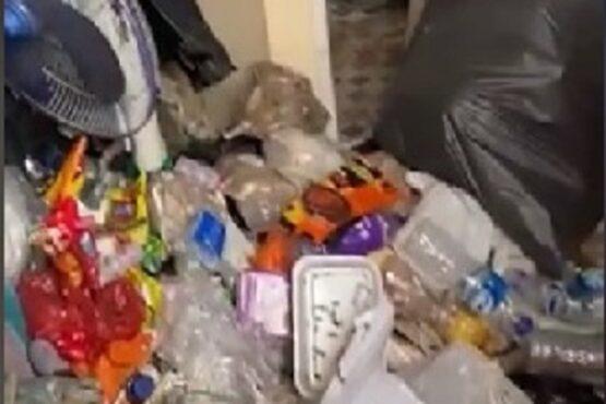 Tiktok @akuinezaryns setelah mengunggah video kondisi kamar tetangganya yang penuh sampah (Tiktok-@akuinezaryns)