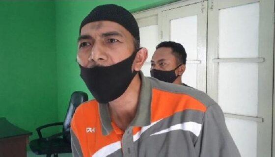 Slamet, warga Desa Teguhan, Kecamatan Jiwan, pemilik lahan yang akan digunakan untuk pasar muamalah. (Abdul Jalil/Madiunpos.com)
