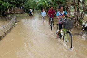Terancam Luapan 3 Sungai, Warga Sragen Kota Tak Tidur 2 Malam Karena Khawatir Banjir