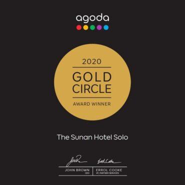 The Sunan Hotel Solo Meraih Gold Circle Award 2020 dari Agoda