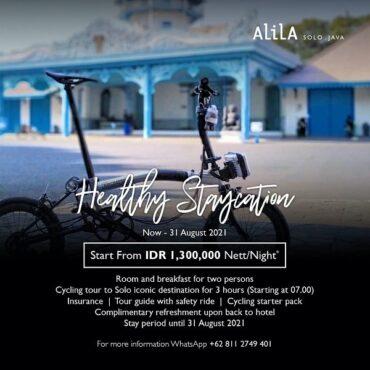 Healthy Staycation Alila Solo, tur sepeda Kota Solo.