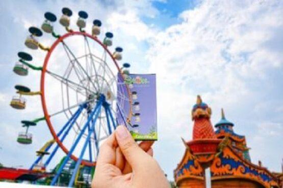 Tiket non-terusan untuk masuk wahana Saloka Theme Park. (Semarangpos.com-Humas Saloka Theme Park)