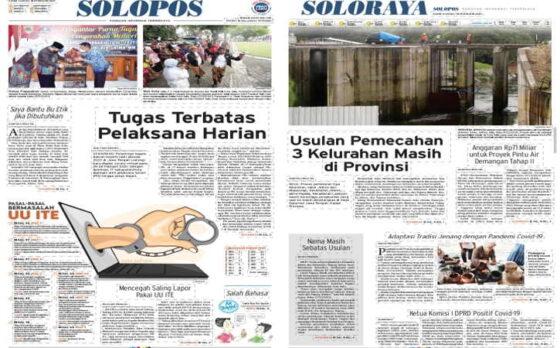 Koran Solopos edisi Kamis (18/2/2021).