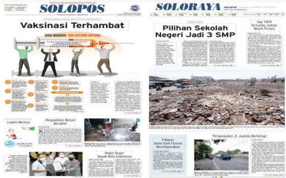 Koran Solopos edisi Jumat (19/2/2021).
