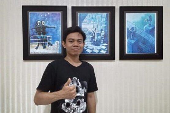 Kartunis Semarang, Abdul Arif, meraih penghargaan internasional dari Pemerintah Kota Izmir, Turki. (Semarangpos.com-Istimewa)