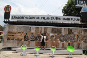 Wow! Lukisan Sepanjang 32,4 Meter Gambarkan Bahaya Sampah