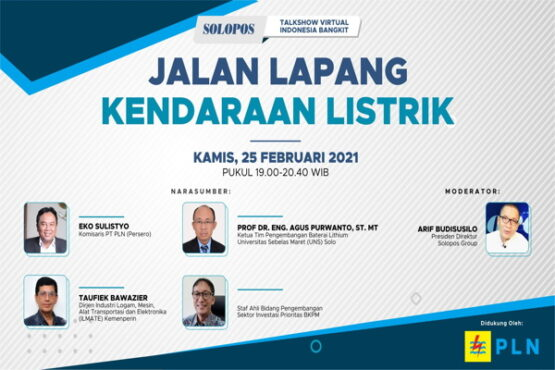 Talkshow virtual Jalan Lapang Kendaraan Listrik kerja bareng Solopos dan PT PLN (Persero)